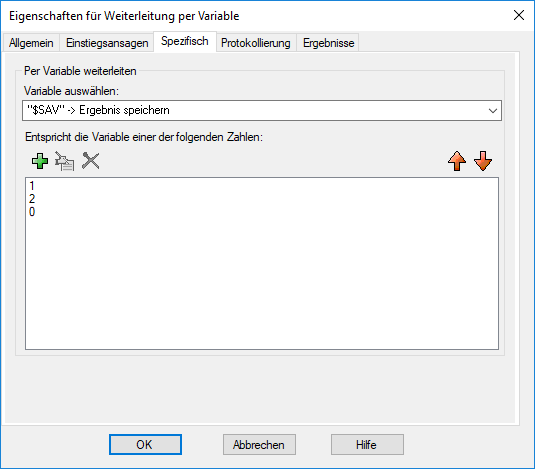 Weiterleitung per Variable